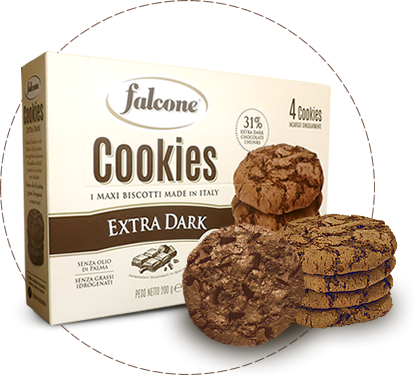 Cookies, i maxi biscotti made in italy, extradark