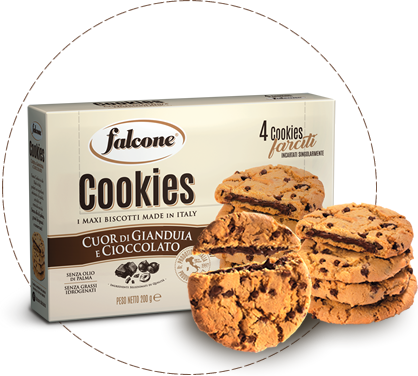 Cookies, i maxi biscotti made in italy, cuor di gianduia e cioccolato